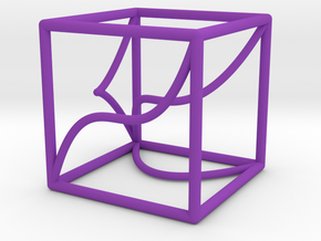 A 3d-curve and its shadows in Purple Strong & Flexible Polished