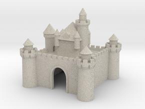 Castle - Ceramic - Z scale in Natural Sandstone