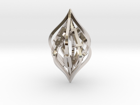 'Kaladesh' LARGE D10 Spindown Life Counter in Rhodium Plated Brass