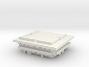 Blockingdead Police Office Part 2 in White Natural Versatile Plastic: Small