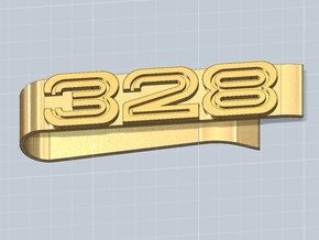 MONEY CLIP 328 SLEEK in Polished Gold Steel