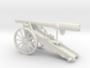 Boer War Long Tom (28mm) in White Natural Versatile Plastic