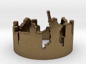 New York Skyline (Size 4.75-13) in Natural Bronze: 4.75 / 48.375