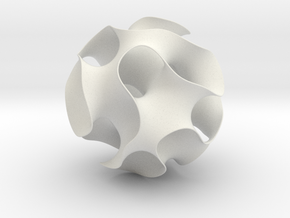 Gyroid, round cut, 163mm in White Strong & Flexible