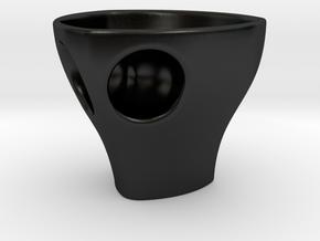 """Holyspresso """"D"""" double espresso cappucino cup in Matte Black Porcelain"""