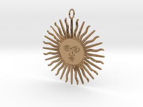 My Day Pendant in Polished Brass