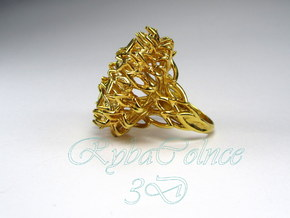 Ring The Thistle/ size 9 1/2 US (19.4 mm) in 14k Gold Plated Brass