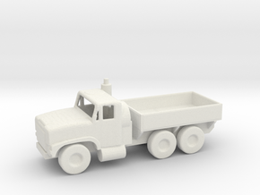 1/200 Scale Oshkosh Mk 23 Mk 25 MTVR Cargo Truck in White Natural Versatile Plastic