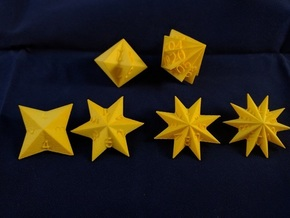 Star Dice in Yellow Strong & Flexible Polished: Polyhedral Set
