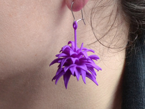 Earrings Plant in White Strong & Flexible
