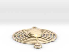 Planetary System Pendant in 14k Gold Plated Brass