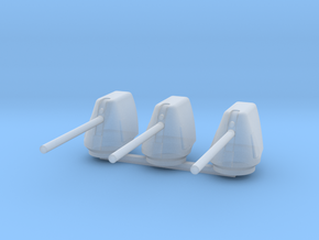 1/400 Scale 5 In 54 Cal Mk 45 Naval Gun Set Of 3 in Smooth Fine Detail Plastic