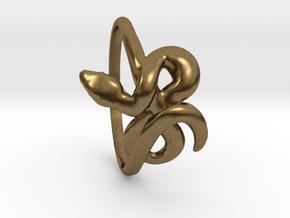 Slytherin Snake ring in Natural Bronze: 8.5 / 58
