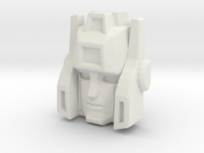 Sideswipe, Sunbow Face (Titans Return) in White Natural Versatile Plastic