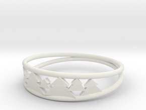 Pine Tree Ring in White Natural Versatile Plastic