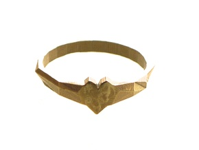 Faceted Heart Ring  in Natural Brass: 7 / 54