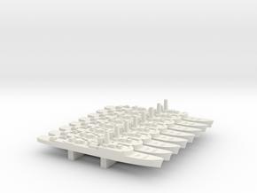 Type 15 frigate x 8, 1/2400 in White Natural Versatile Plastic