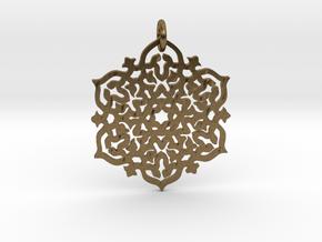 Mandala30 in Interlocking Raw Bronze