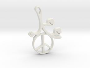 Earthly Spring Peace Sign by ~M. in White Natural Versatile Plastic