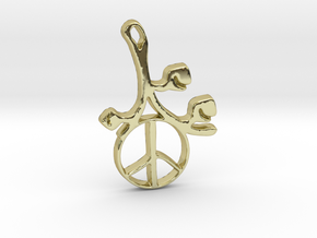 Earthly Spring Peace Sign by ~M. in 18k Gold Plated Brass