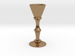 Candle Holder Model S in Natural Brass