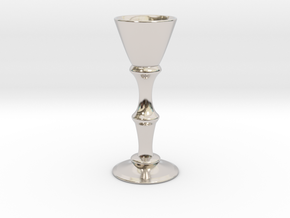 Candle Holder Model S in Rhodium Plated Brass