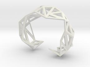 TRIANGULATED CUFF     in White Natural Versatile Plastic: Medium