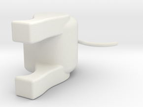 DOG(Tail) in White Natural Versatile Plastic: Small
