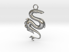 Lamprey Pendant in Natural Silver