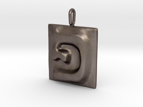 17 Pe Pendant in Polished Bronzed Silver Steel