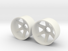 2x Llantas Mini-Z 21mm Trasera Offset 3 in White Strong & Flexible