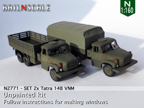 SET 2x Tatra 148 VNM (N 1:160) in Smooth Fine Detail Plastic