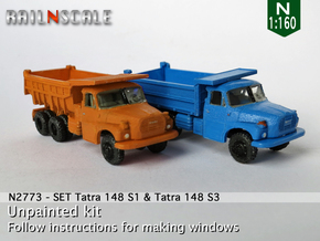 SET Tatra 148 S1 und 148 S3 (N 1:160) in Smooth Fine Detail Plastic