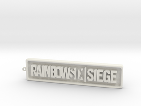 Rainbow Six SIege - positive in White Natural Versatile Plastic