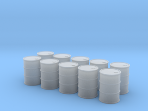 HO 10x 55 Gallon Drums in Smooth Fine Detail Plastic