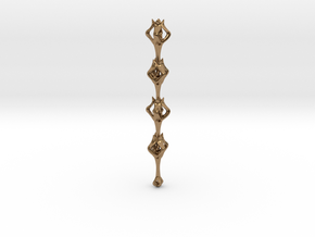 Flora x1 Pendant in Interlocking Raw Brass