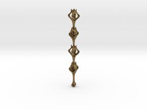 Flora x1 Pendant in Interlocking Polished Bronze