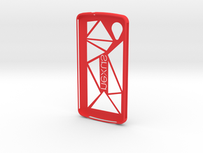 NEXUS 5 Case Modified in Red Processed Versatile Plastic