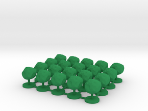 Game Piece, Asteroid, 20-set in Green Processed Versatile Plastic
