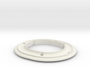 ALPHA, PAD RING.STL in White Strong & Flexible