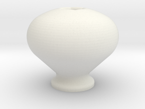 Simple Knob in White Natural Versatile Plastic