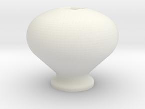Simple Knob in White Natural Versatile Plastic