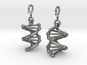 DNA Earrings in Interlocking Polished Silver