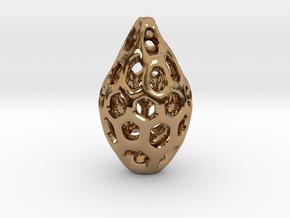 HONEYBIT Pendant. in Polished Brass