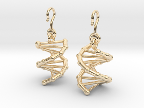 DNA Earrings (One Piece) in 14K Yellow Gold