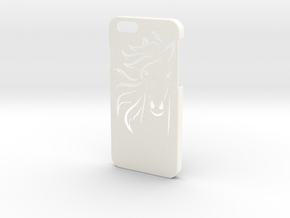Iphone 6 Case - Name on the back - Horse in White Strong & Flexible Polished
