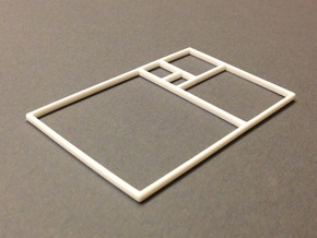 The Golden Rectangle in White Natural Versatile Plastic