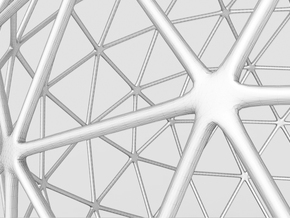 Geodesic Sphere (12cm) in White Natural Versatile Plastic