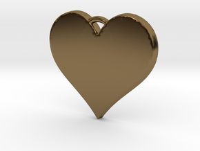 With All My Heart in Polished Bronze