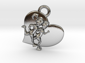 Running charm Customizable  in Polished Silver